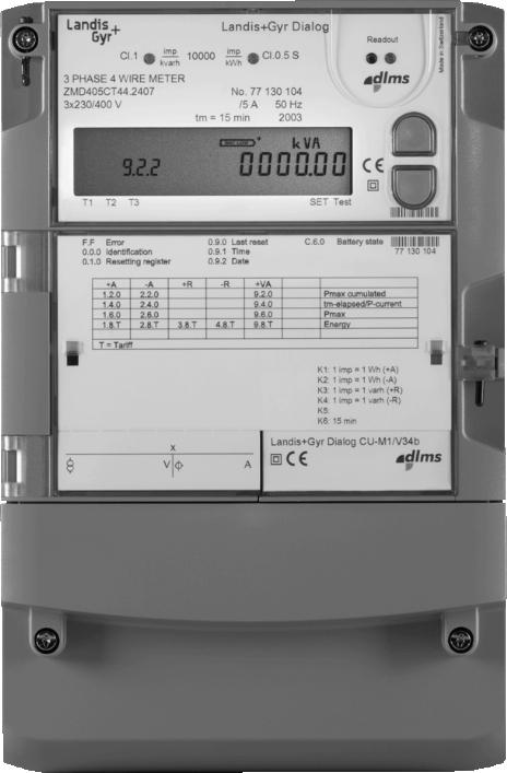 Power Demand Meter : Landis gyr zmd e ct connected demand meter