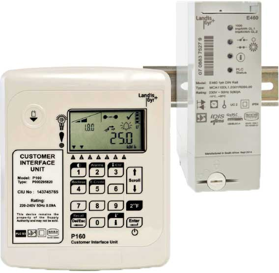 Landis+Gyr E460 Smart Prepaid Electricity Meter with PLC